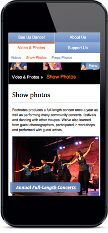 Footnotes Photo Gallery Mobile View