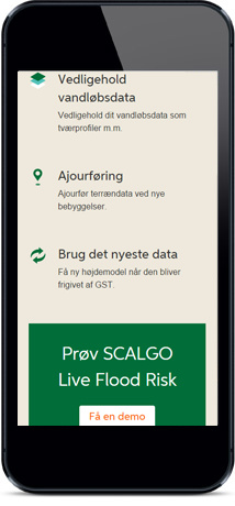 SCALGO Live Flood Risk Page Mobile View