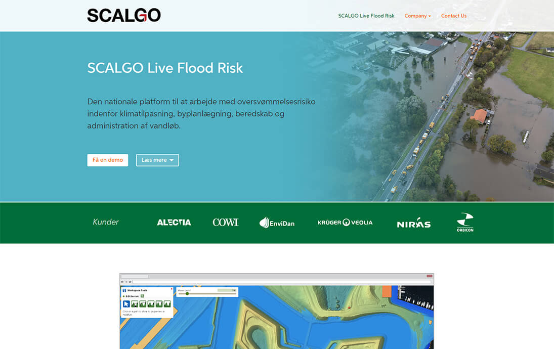 SCALGO Live Flood Risk Page