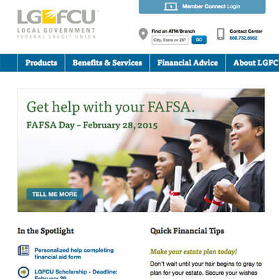 LGFCU Website Redesign