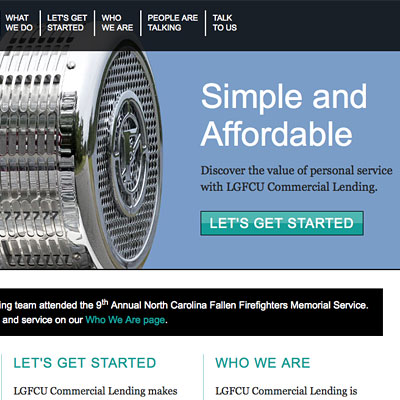 LGFCU Commercial Lending Website